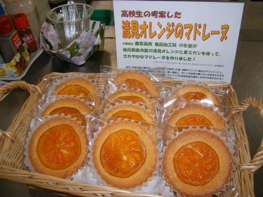 地元産オレンジを使用したマドレーヌ