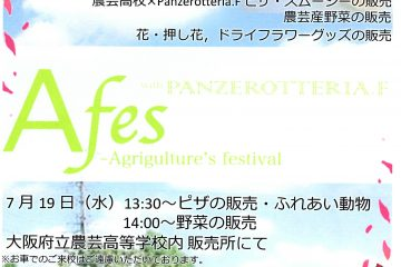 A-fes開催!7月19日(水)13:30~