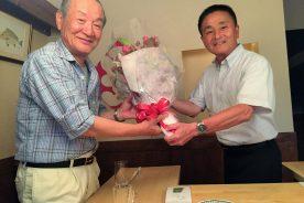 高瀬周作先生の叙勲受賞のお祝いをしました。