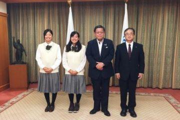 堺市竹山市長を表敬訪問しました。
