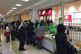 泉北高島屋で、本年度第2回目となる野菜の販売実習を行いました。