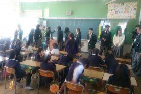 小学校との交流授業①(ふれあい動物部)