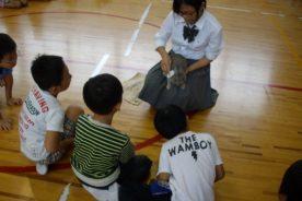 小学校へ行きました(ウサギのレンタル)