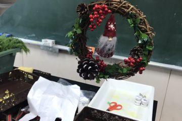クリスマスリース作り研修