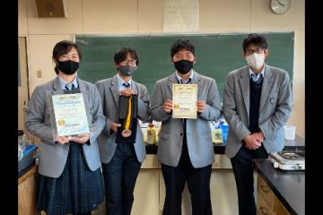 ボランティアスピリットアワード受賞(作物専攻生徒より)